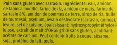 Bauernbrot - Ingrédients - fr