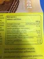 Bauernbrot - Voedingswaarden - fr