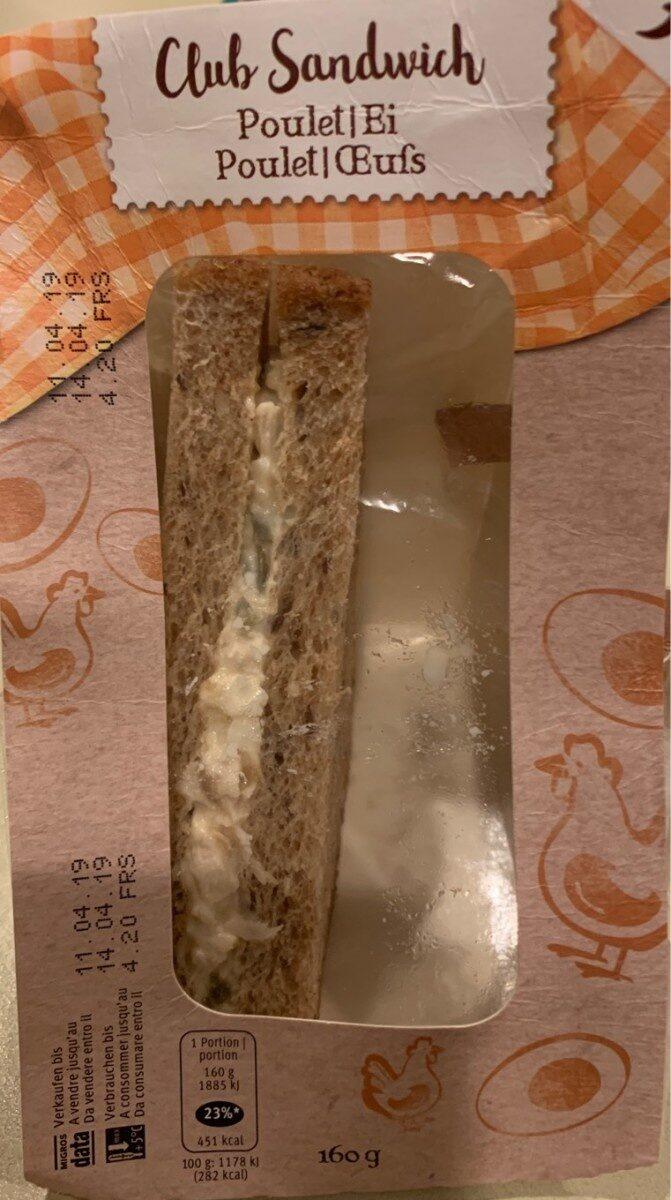 Club Sandwich poulet, oeufs - Product - fr