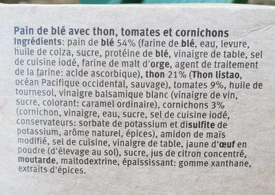 Club Sandwich Thon / Tomate - Ingredients