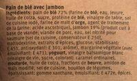Club sandwich jambon - Ingredients - fr