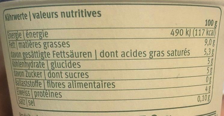 Yogourt a la grecque - Nutrition facts - fr