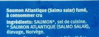 Saumon Fumé en tranches - Ingredients - fr