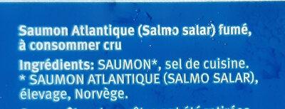 Saumon Fumé en tranches - Ingredients