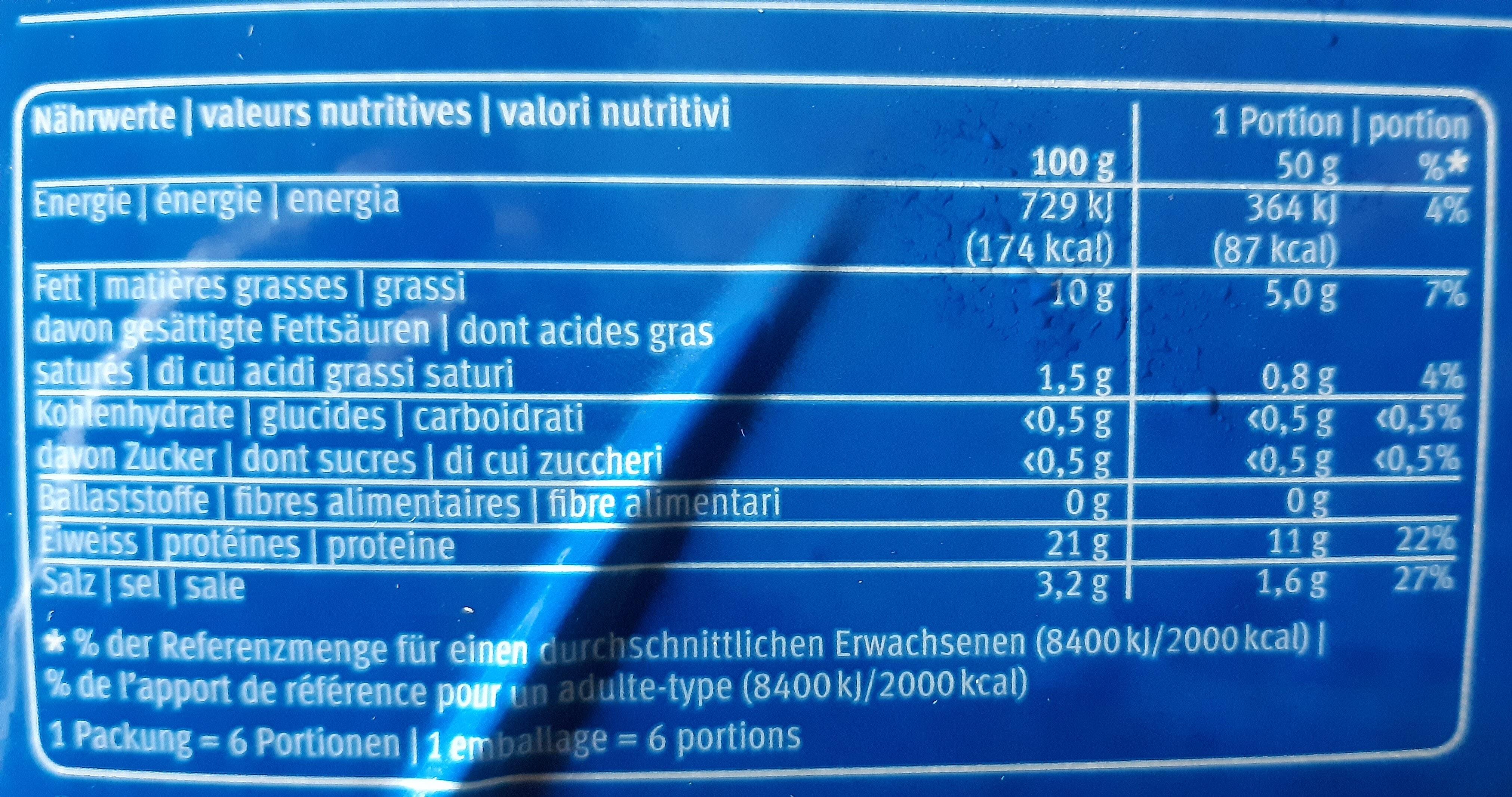 Saumon Fumé en tranches - Nutrition facts - fr