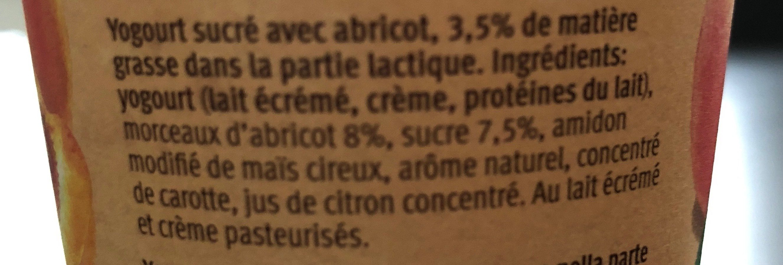 Yogurt - Ingrediënten - fr
