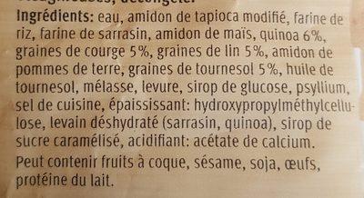 Pain au quinoa - Ingrédients - fr