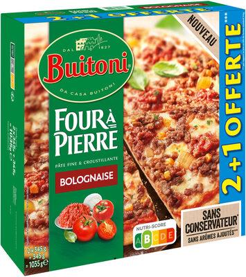 BUITONI FOUR A PIERRE pizza surgelée Bolognese 3X450g (2+1 offerte) - Produit - fr