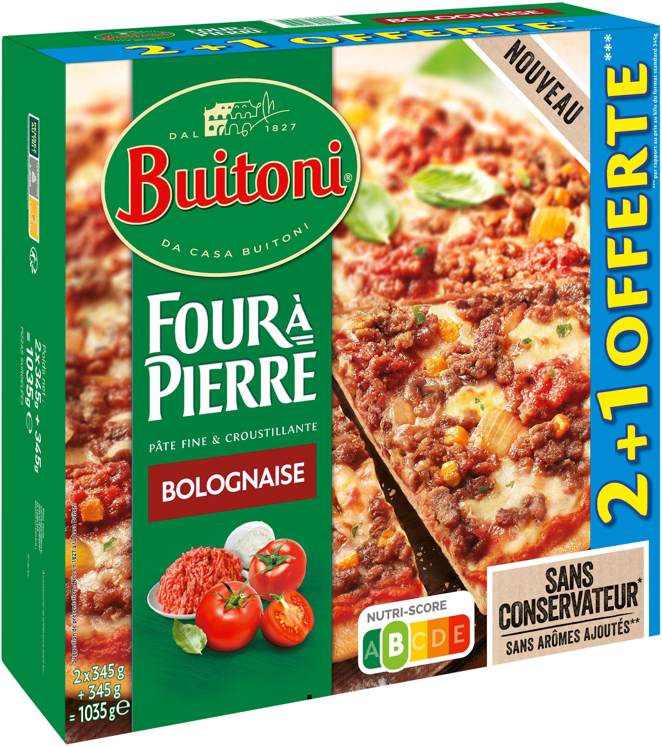 BUITONI FOUR A PIERRE Pizza Bolognese 3X345g - Produit - fr