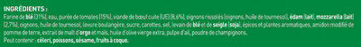BUITONI FOUR A PIERRE Pizza Bolognese 3X345g - Ingrédients - fr