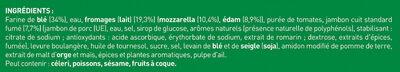 BUITONI FOUR A PIERRE Pizza Jambon Fromage (3x315g) - Ingrédients - fr