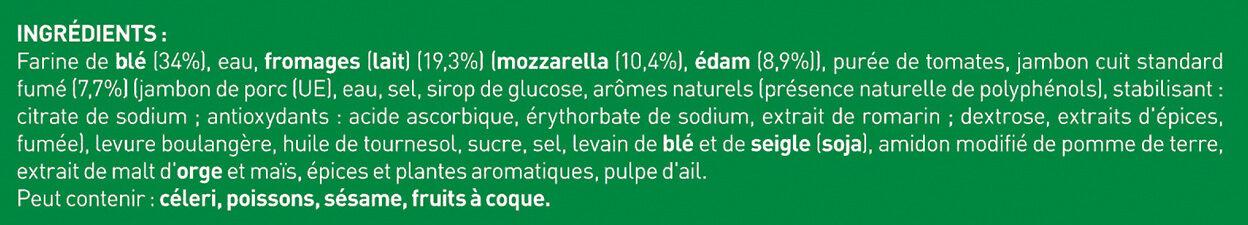 BUITONI FOUR A PIERRE pizza surgelée Jambon Fromages MAXI 3x315g - Ingrédients - fr