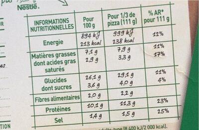 BUITONI FOUR A PIERRE Pizza Royale 3x335g - Informations nutritionnelles - fr
