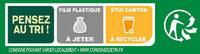 BUITONI FOUR A PIERRE Pizza Royale 3x335g - Instruction de recyclage et/ou informations d'emballage - fr