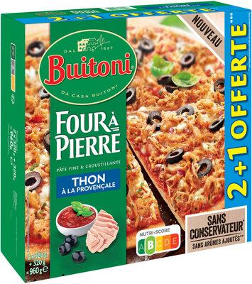 BUITONI FOUR A PIERRE Pizza Surgelée Thon à la Provençale 3 packs x 320g (x3 maxi format) - Produit - fr