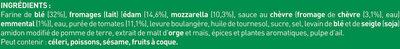 BUITONI FOUR A PIERRE Pizza Surgelée 4 Fromages - Ingrédients - fr