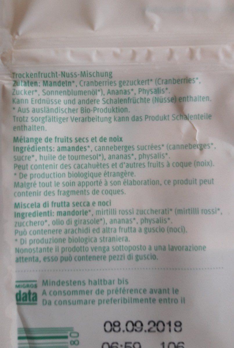 Trockenfrucht-nussmischung, Mandeln, Ananas, Cranb. .. - Ingredients