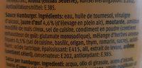 M classic Sauce Hamburger - Ingrédients - fr