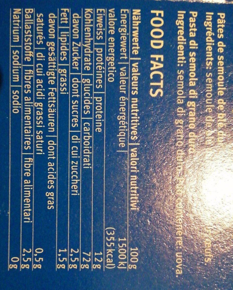 M-classic Lasagne - Informations nutritionnelles