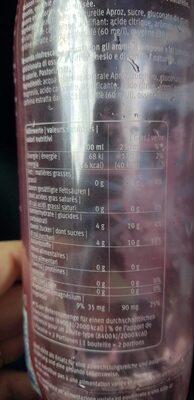 O2 Framboise-Lime - Nutrition facts - fr