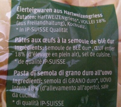 Pappardelle - Ingredienti - fr