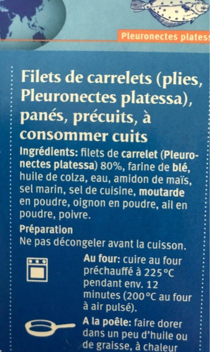 Filet de carrelet - Ingrediënten - fr