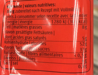 Cup Lovers Cake au Citron - Nutrition facts