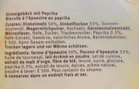 Blévita Mini Paprika - Ingrédients - fr