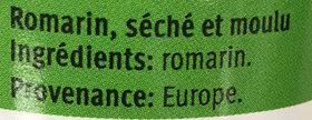 Romarin Moulu - Ingrediënten - fr