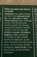 Lasagne Bolognese - Ingredients - fr