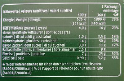 Lasagne Bolognese - Valori nutrizionali - fr