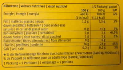 Poulet/dinde fondue chinoise - Nutrition facts