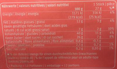 Mini-mille feuilles - Informations nutritionnelles