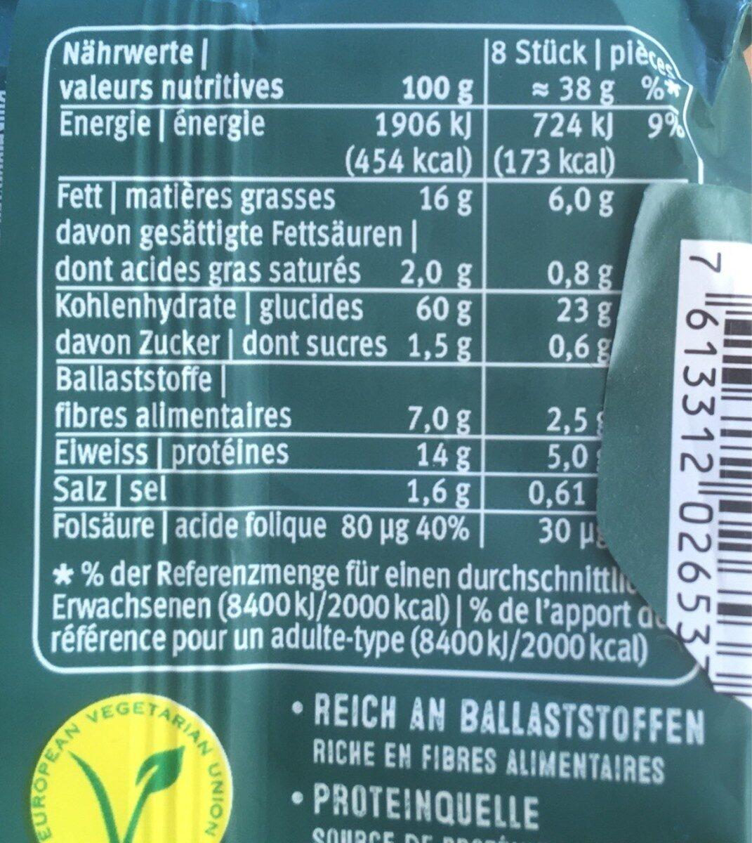 Blévita Graines de Courge - Informations nutritionnelles - fr