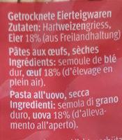 Schwäbische späztke - Zutaten - fr