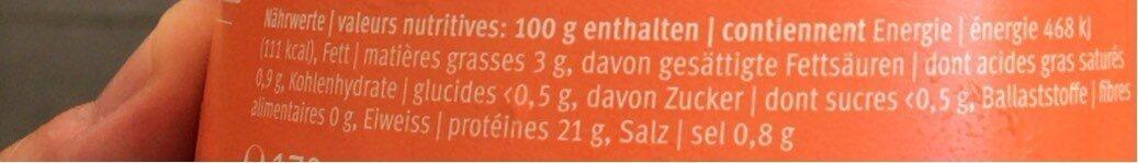 Wildlachs/Salmon sauvage - Voedingswaarden - fr