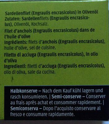 Sardellen Anchois Acciughe - Ingrediënten - fr
