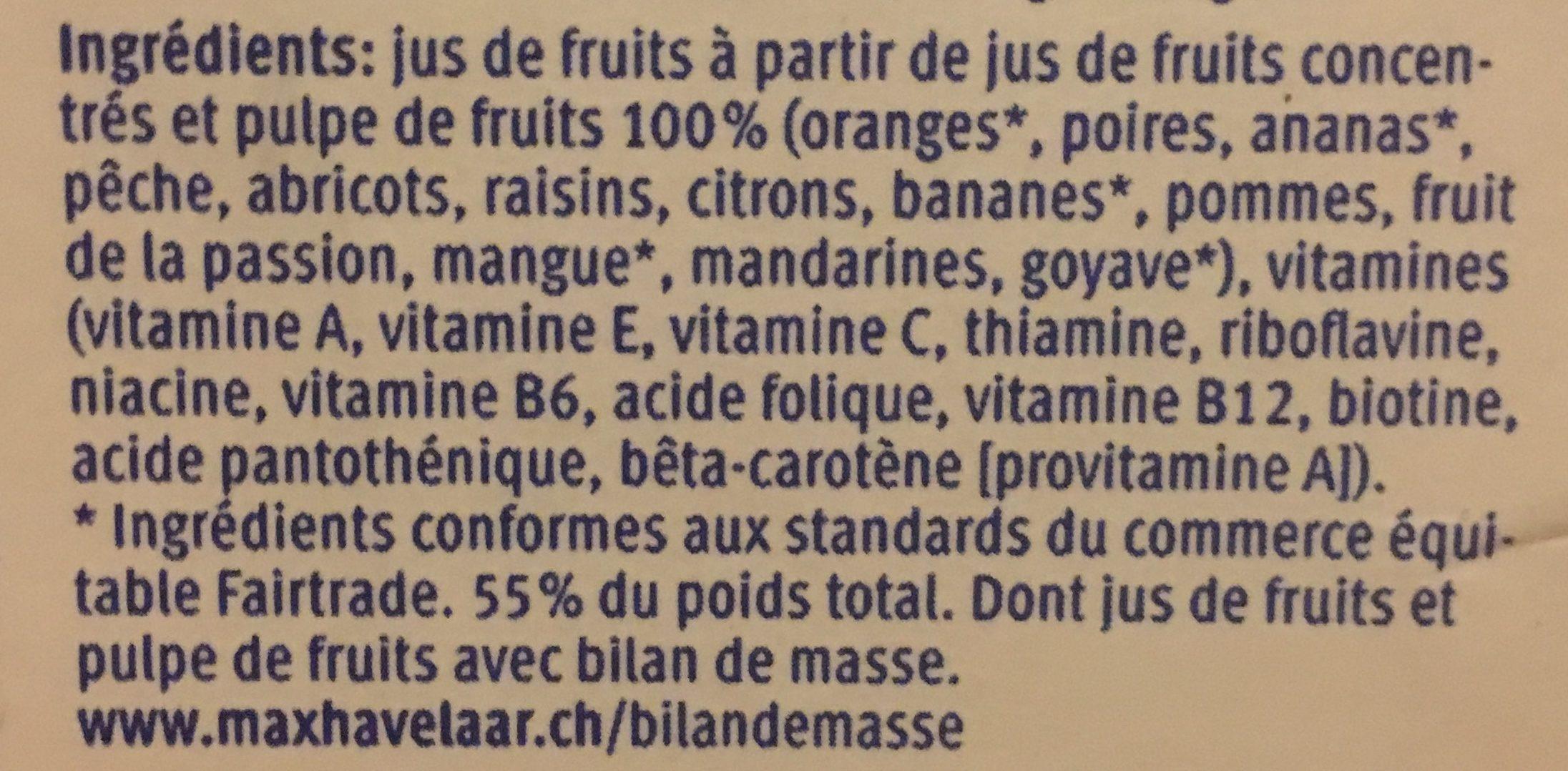 Gold Multivitamin saft 1L - Ingredients - fr