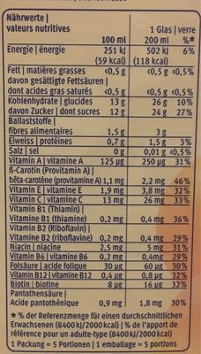 Gold Multivitamin saft 1L - Nutrition facts - fr