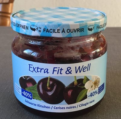 Extra Fit & Well Cerises Noires - Product