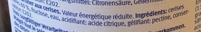 Extra Fit & Well Cerises Noires - Ingrediënten