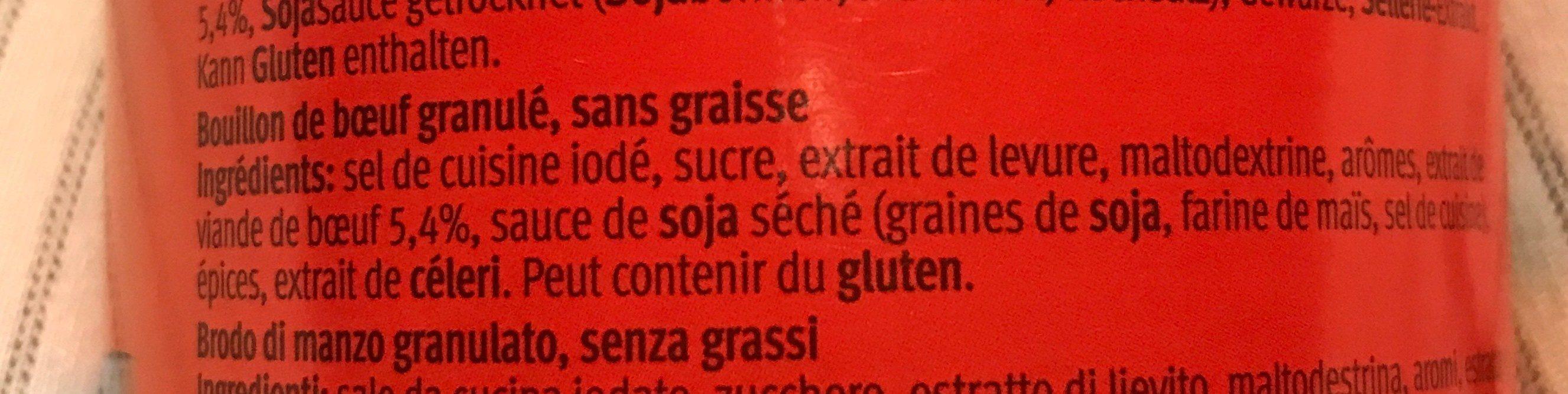 Bouillon Rind-de boeuf di manzo - Ingredients - fr