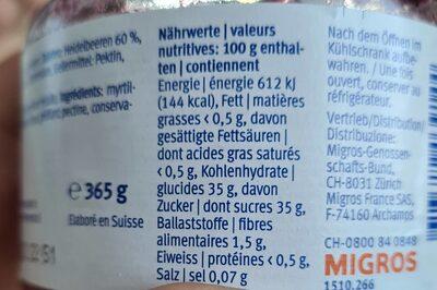Extra fit & well - Información nutricional - en