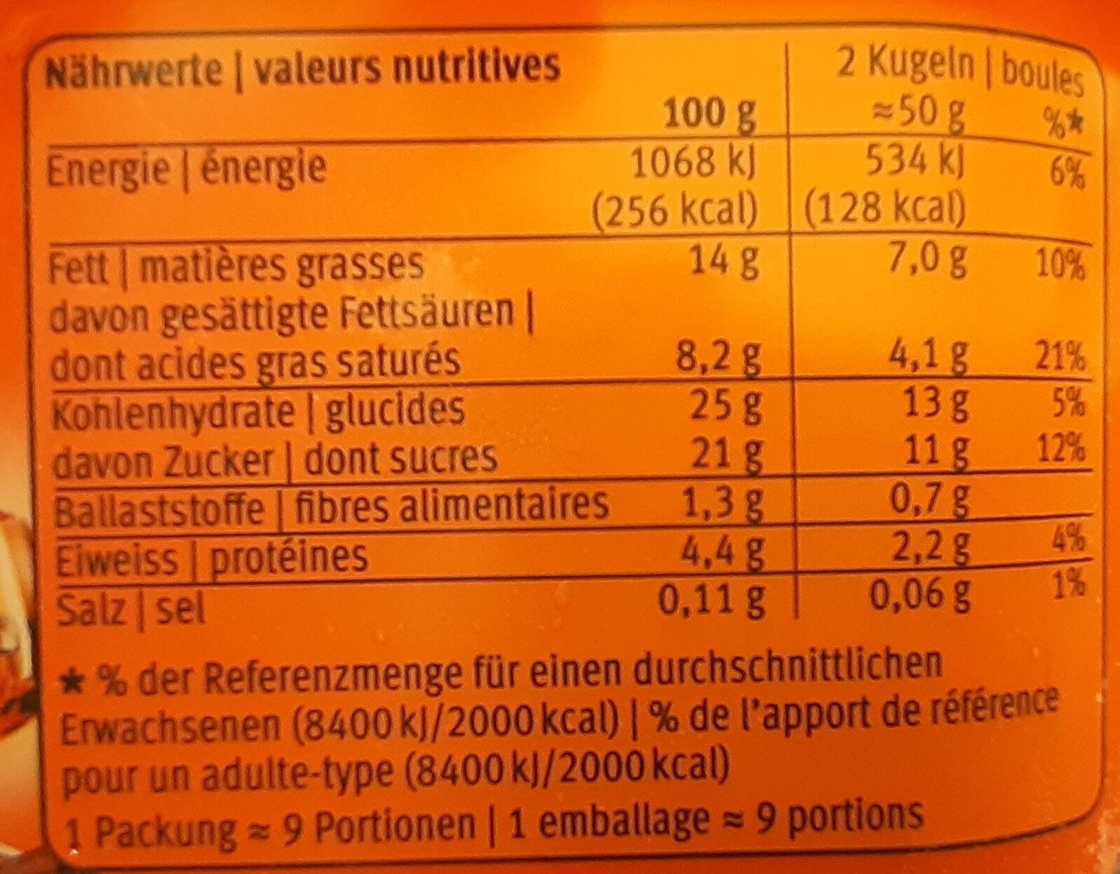 Limited Edition Grand Marnier orange & chocolat - Valori nutrizionali - fr