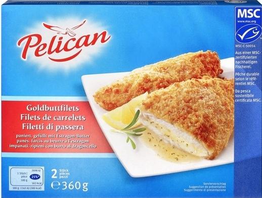Filets de carrelets panés, farcis au beurre et à l'estragon - Product - fr