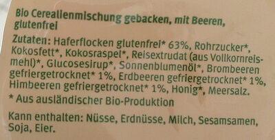 Knuspermüesli mit Waldbeeren - Ingredienti - de