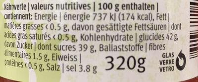 Sauce douce et épicée - Valori nutrizionali - fr