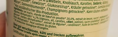 Bouilon de boeuf bio - Ingredients - fr
