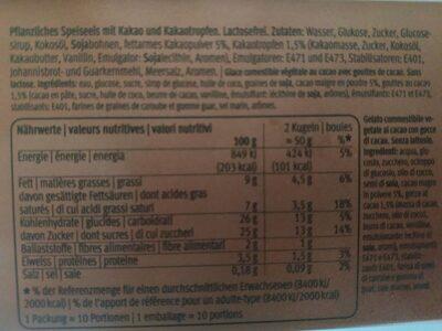 Glace à l'arôme de cacao - Ingredienti - fr