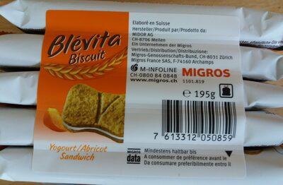 Biscuit Yogourt/Abricot Sandwich - Product - fr